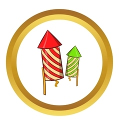 Firecracker icon cartoon style vector image