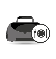 Fitness sport bag icon food healthy vector