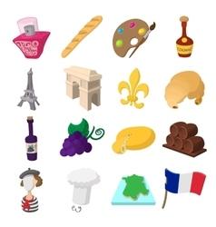 France cartoon icons vector