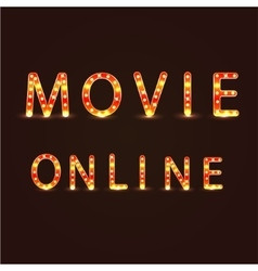 Movie omline sign vector image vector image
