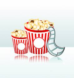Movie time background vector