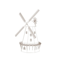 Old Wind Mill vector image vector image