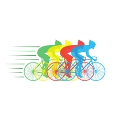 racing bikes with riders vector image vector image