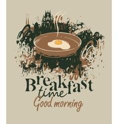 Restaurant with breakfast vector