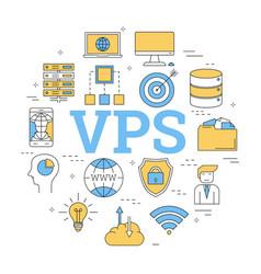 Round concept of virtual private server vector
