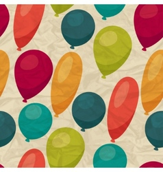 Seamless pattern with balloons on crumpled paper vector image vector image