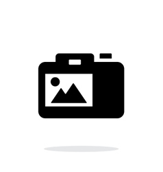 Slr camera simple icon on white background vector