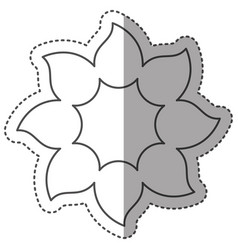 sticker monochrome contour with petals forming vector image vector image