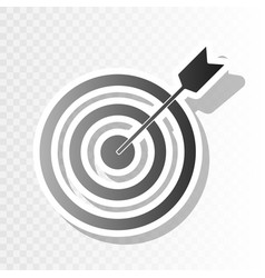 Target with dart new year blackish icon vector