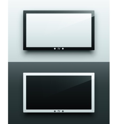TV screen hanging vector image vector image