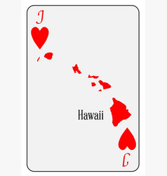 usa playing card jack hearts vector image vector image