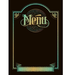 Vintage chalkboard menu banner calligraphy design vector image vector image