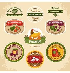 Vintage farm labels vector