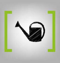 watering sign black scribble icon in vector image vector image