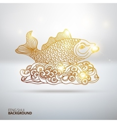 With feng shui fish vector
