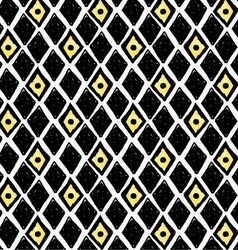 Artistic color brushed black and yellow diamonds vector