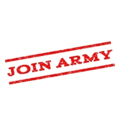Join army watermark stamp vector