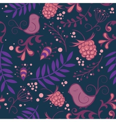 Abstract seamless floral pattern colorful vector