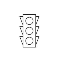 Traffic light outline icon vector