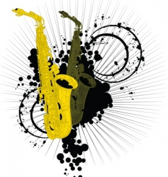 abstract saxophones vector image