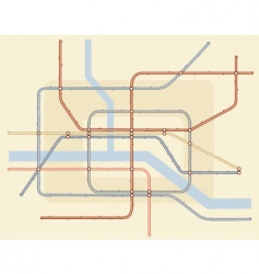 Underground map vector