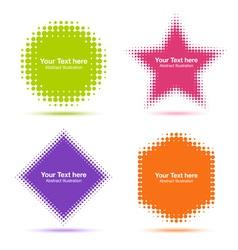 Set of Modern Flat Halftone Design Elements vector image