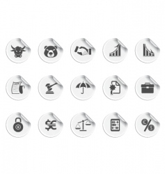 finance icons  sticky series vector image