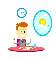Breakfast Before Going To Work vector image