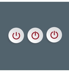 Power buttons for web vector