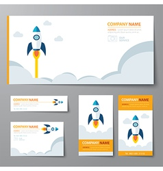 Corporate identity template startup vector