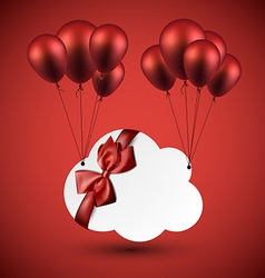 Celebrate cloud background with balloons vector
