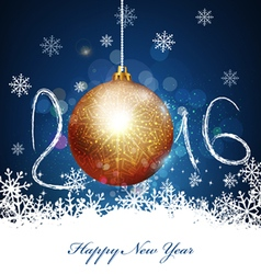 Christmas background with a ball to a new 2016 vector image