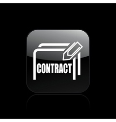 Single contract icon vector