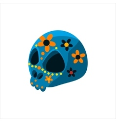 Traditional mexican painted skull vector