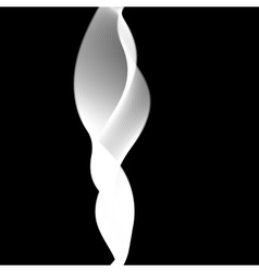 Delicate smoke waves on black background vector