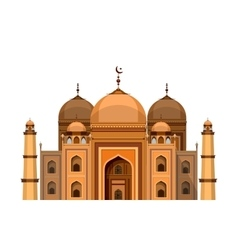 Mosque on a white background vector