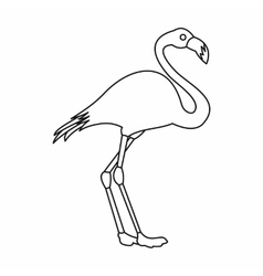 Flamingo icon outline style vector