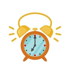 Alarm clock icon in flat style vector