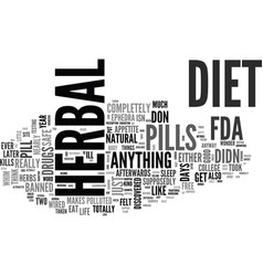 Are herbal diet pills right for you text word vector