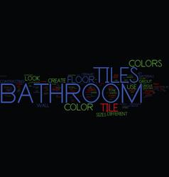 Bathroom towel bars and accessories text vector
