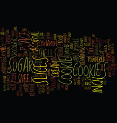 Best recipes taco cookies text background word vector
