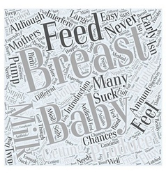 Breast feeding adopted babies word cloud concept vector