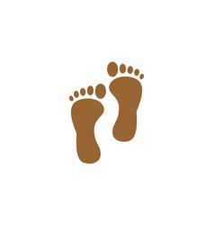 brown foot logo vector image vector image