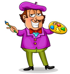 cartoon painter vector image