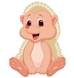 cute hedgehog cartoon vector image vector image