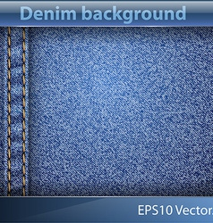 Denim realistic texture vector image vector image
