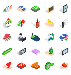 Duologue icons set isometric style vector