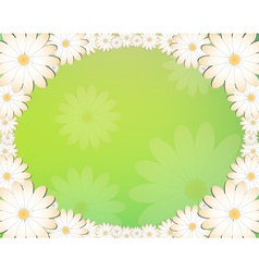 Floral frame2 vector image vector image
