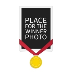 frame with gold medal vector image vector image