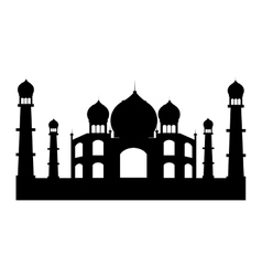 indian landmark building icon vector image vector image